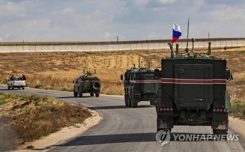시리아 북부 지역의 러시아 순찰대