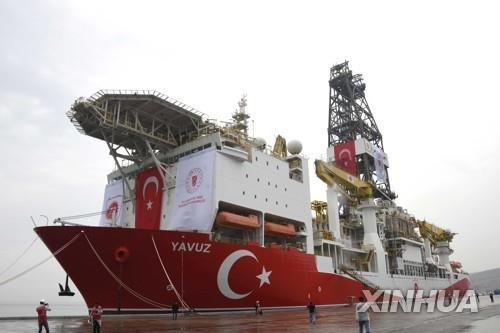 키프로스 연안에 투입된 터키의 시추선