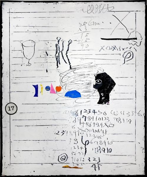 오세열, untitled, 65.1 x 53cm, mixed media, 2019.
