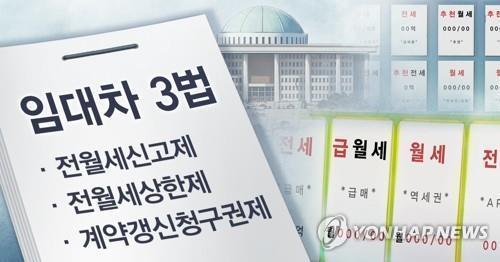 정부, 임대차 3법 시행 전 계약한 세입자에도 적용 방침 | 연합뉴스