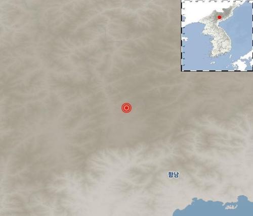 """기상청 """"북한 함경남도 장진 북동쪽서 규모 2.3 지진 발생"""""""