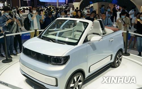 중국 'SAIC-GM-우링 자동차'의 소형 전기차 훙광 미니 컨버터블 모델