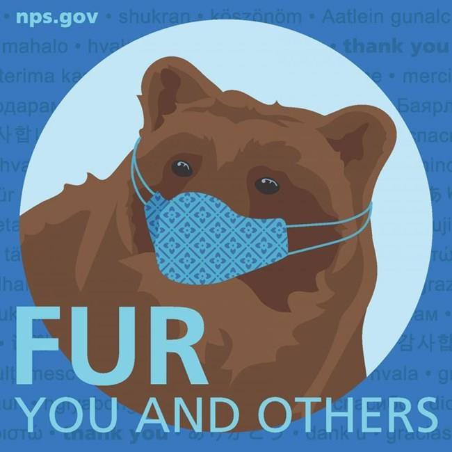 미국 국립공원관리청 마스크 착용 의무화 캠페인 포스터
