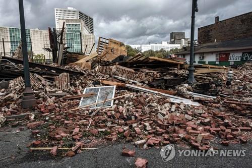 미국 루이지애나주 뉴올리언스에서 허리케인 아이다로 붕괴한 건물 [EPA=연합뉴스]