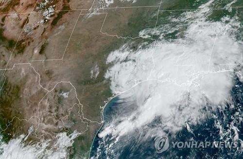 미국 텍사스주에 상륙한 열대성 폭풍 '니컬러스'