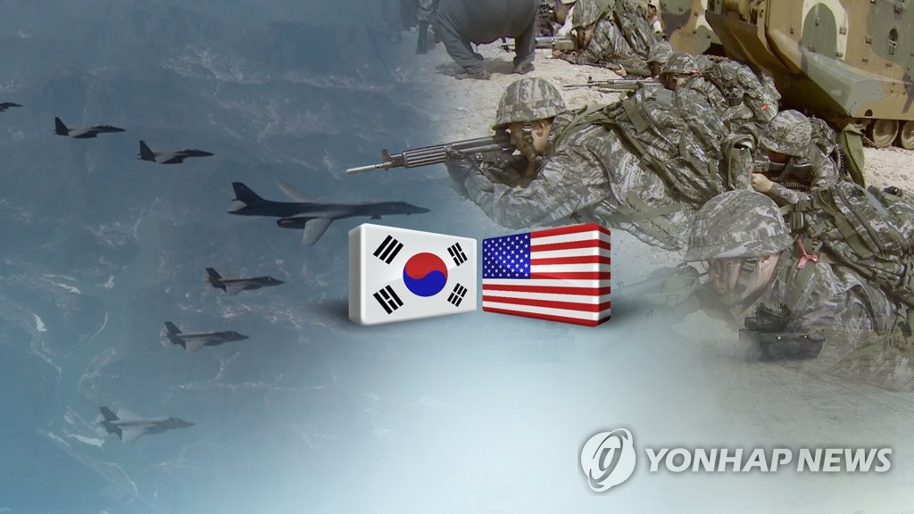This image, provided by Yonhap News TV, depicts a South Korea-U.S. combined exercise in progress. (Yonhap)