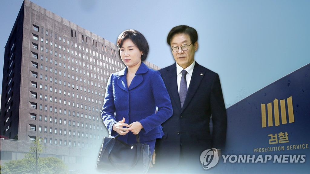 검찰, 이재명 경기지사-김혜경씨 부부 압수수색 (CG) [연합뉴스TV 제공]
