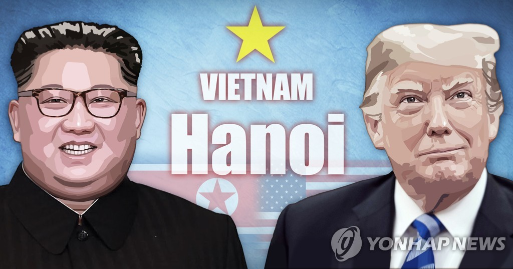(US-NK summit) (News Focus) In Hanoi summit, Trump to gamble on Kim Jong-un's denuclearization commitment - 1