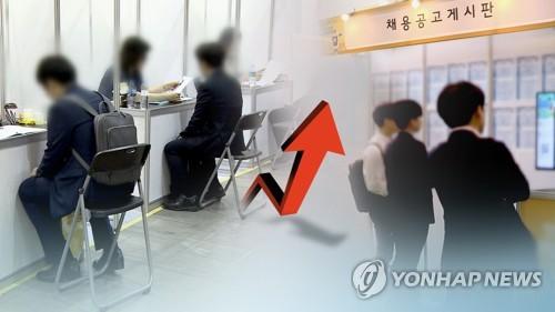 1월 취업자 56만8천명 증가…5년5개월 만에 최대 (CG)