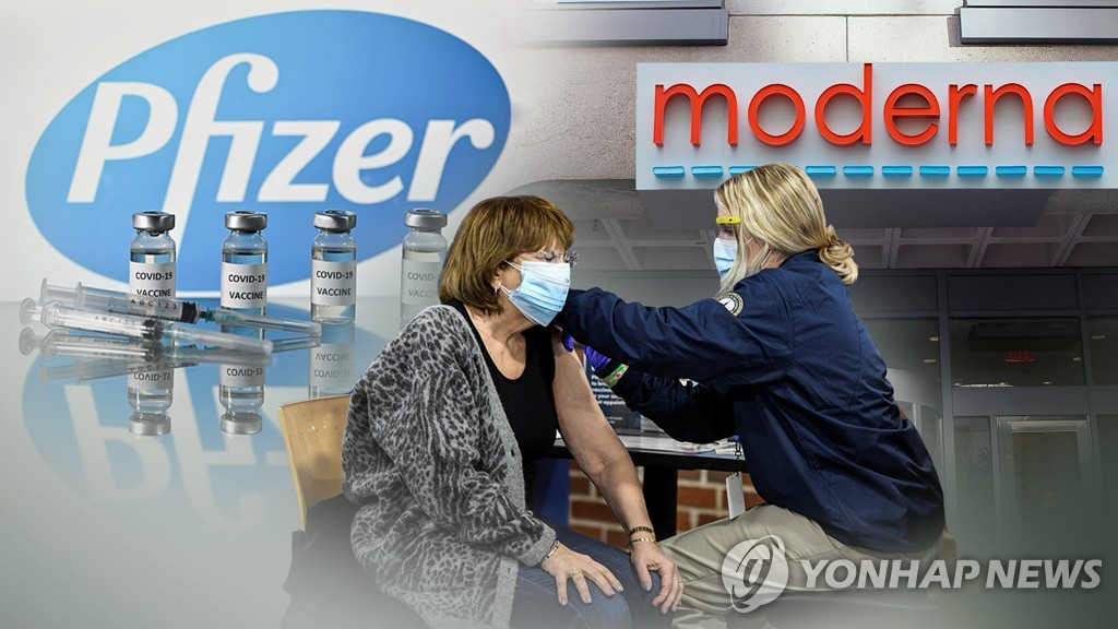 화이자, 모더나 백신 (CG)