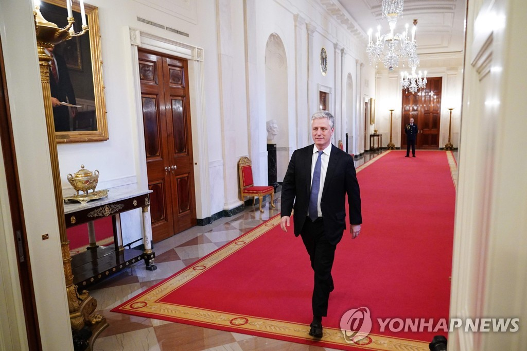 This AFP file photo shows U.S. National Security Adviser Robert O'Brien. (Yonhap)