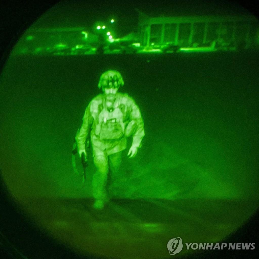 아프간을 떠난 마지막 군인 크리스토퍼 노나휴 미국 육군 82공수사단장[EPA=연합뉴스]