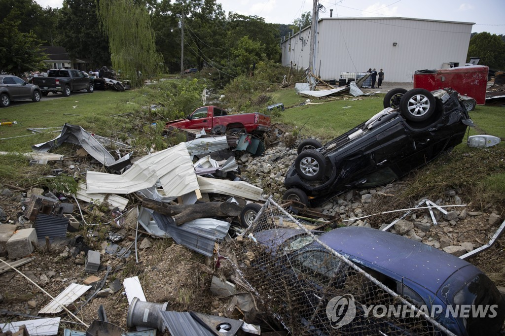 기록적인 폭우로 피해를 본 미국 테네시주 [게티이미지/AP=연합뉴스]