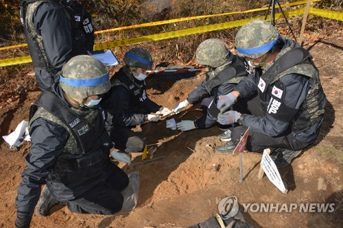 Ministry holds ceremony enshrining 365 sets of S. Korean troop remains