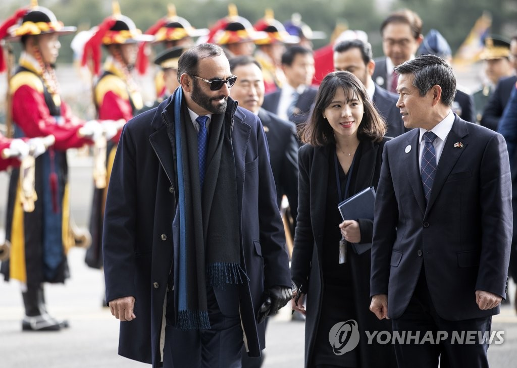 UAE defense chief in Seoul