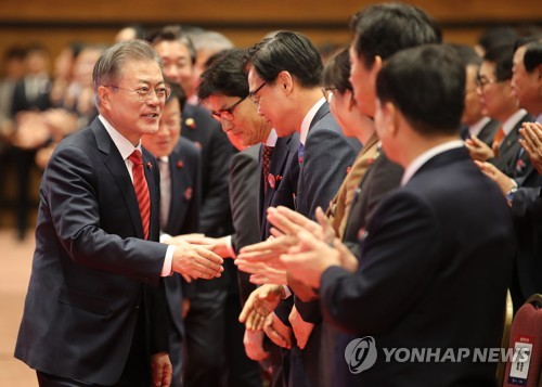 Moon urges all-out efforts to further boost exports