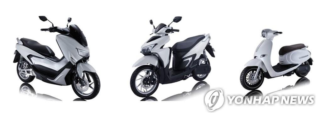 엠비아이가 베트남에 공급하는 전기 오토바이 모델