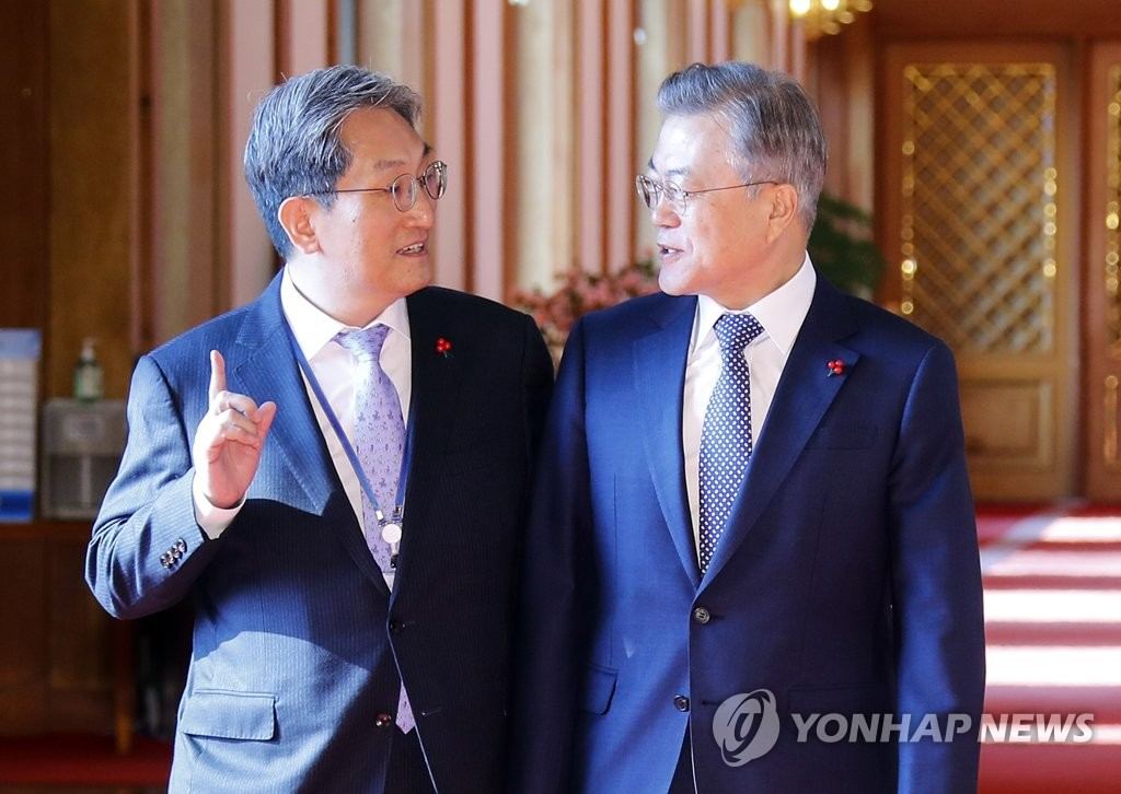 Moon with new chief of staff