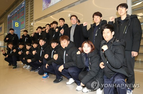 S  Korean men's handball team returns after competing at