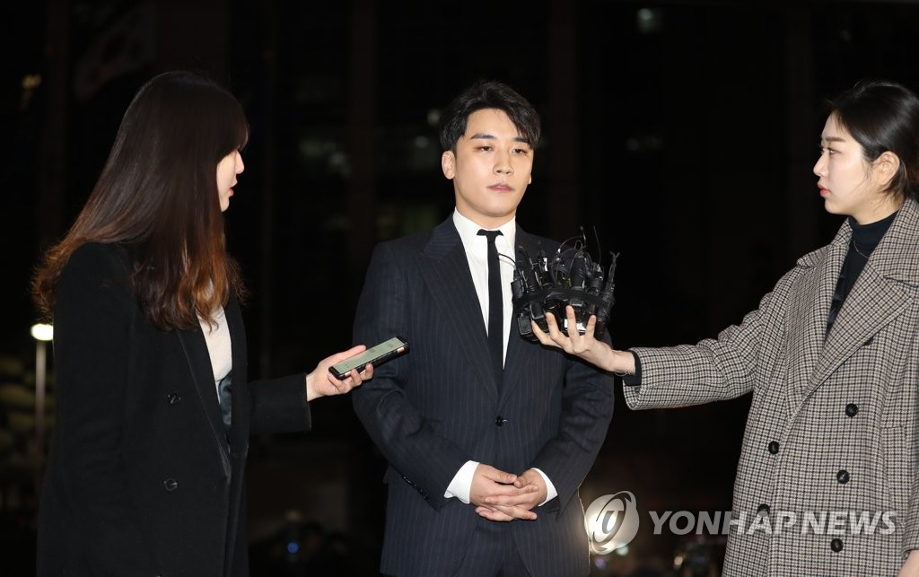 Big Bang's Seungri quizzed