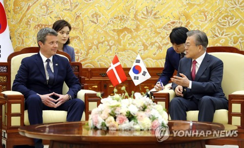 Moon asks Denmark to continue support for Korea peace process