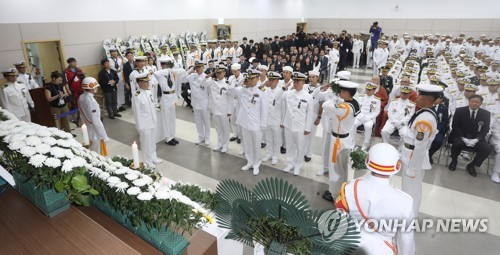 Funeral for Navy officer killed in accident