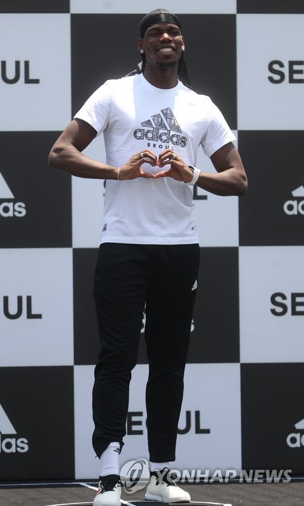 Manchester United star in Seoul