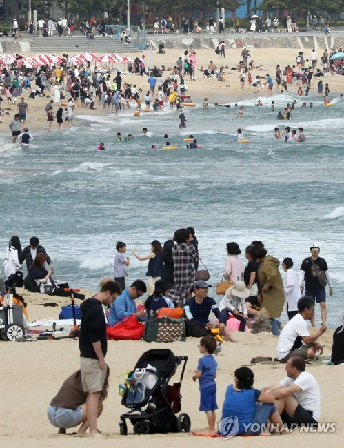 Haeundae Beach in early summer