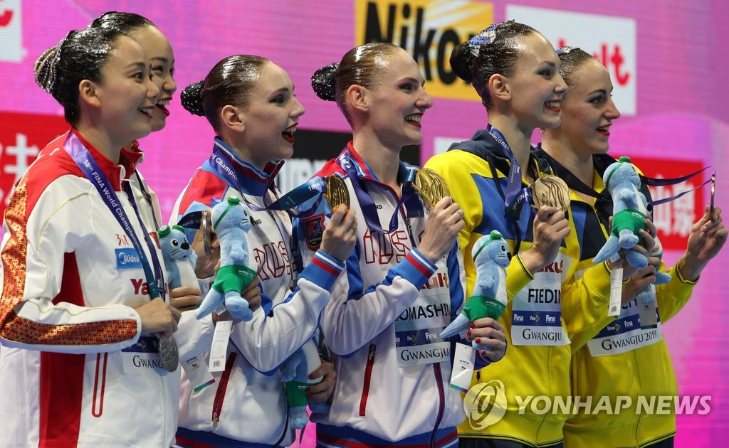 Synchronized swimming medalists
