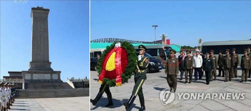 N. Korea's Kim Su-gil lays wreath in Beijing