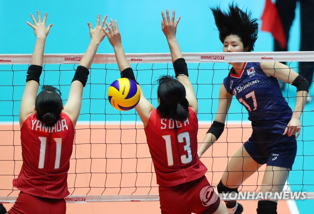 10대 주축 일본에 역전패…한국여자배구, 결승 진출 실패(종합) | 연합뉴스