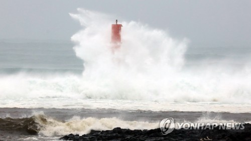 Big waves in Jeju