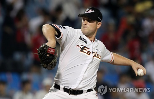 (Yonhap Interview) After quality time in quarantine, KBO pitcher Chad Bell eyes more quality starts on mound