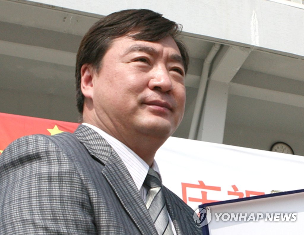 This file photo, taken in May 2009, shows Xing Haiming, then an official at the Chinese Embassy in Seoul, attending an athletic event involving Chinese students in Seoul. (Yonhap)