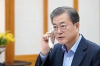 (LEAD) Moon, Trump agree on need to maintain dialogue momentum over N. Korea