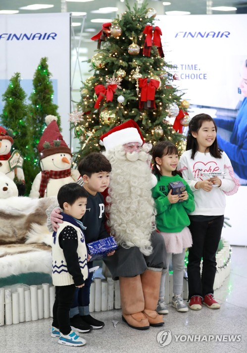 Finnish Santa in Busan