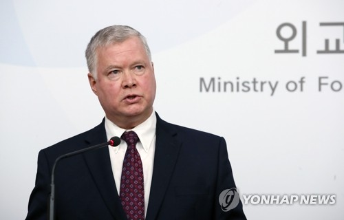 Biegun says U.S. has no deadline on nuke talks, offers to hold talks with N.K.