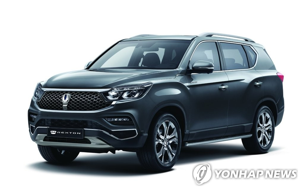 This file photo provided by SsangYong Motor shows the flagship G4 Rexton SUV. (PHOTO NOT FOR SALE) (Yonhap)
