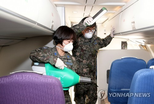 Disinfection of evacuation plane
