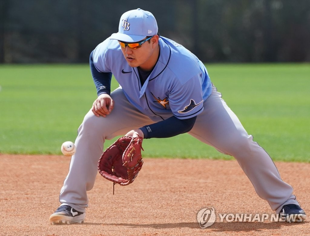 With MLB season on hold, Rays' Choi Ji-man to arrive back home Tuesday
