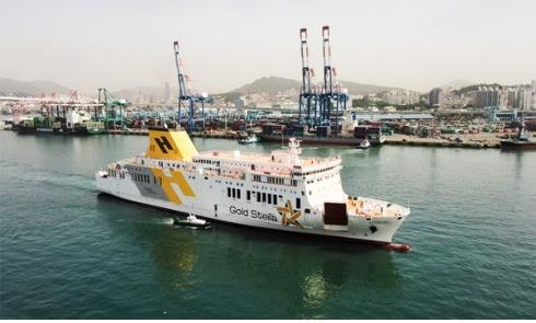 "This photo, provided by Daesun Shipbuilding Engineering Co., shows a coastal passenger ship named ""Gold Stella,"" built by the shipbuilder. (PHOTO NOT FOR SALE) (Yonhap))"