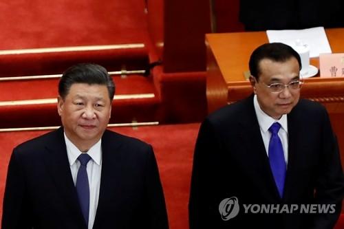 정협 개막식 도착하는 시진핑과 리커창