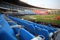 A Korea Baseball Organization regular season game between the NC Dinos and the Doosan Bears takes place without fans at Jamsil Baseball Stadium in Seoul on June 28, 2020. (Yonhap)