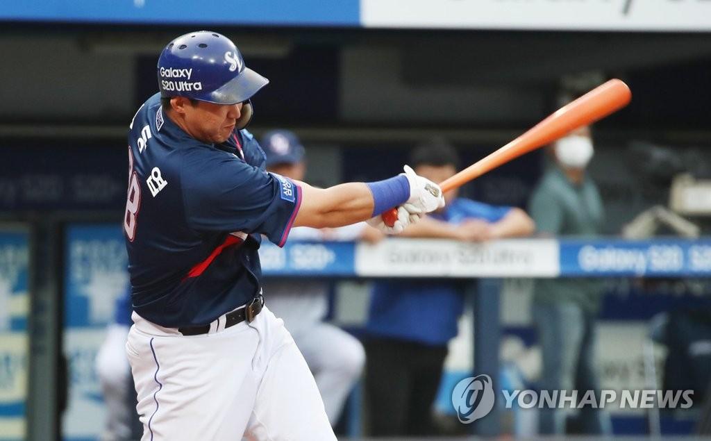 김동엽 '솔로 홈런!'