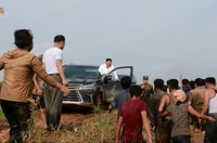 (3rd LD) N.K. leader visits flood-damaged village, orders release of reserve grain for victims