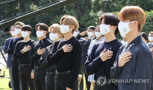 BTS members at Youth Day event