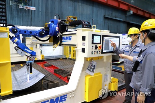 DSME develops AI-powered hot-work robot