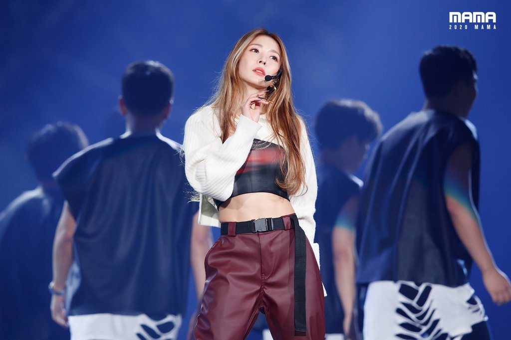 This photo, posted on the official Twitter account of the Mnet Asian Music Awards (MAMA) on Dec. 6, 2020, shows K-pop star BoA. (PHOTO NOT FOR SALE) (Yonhap)