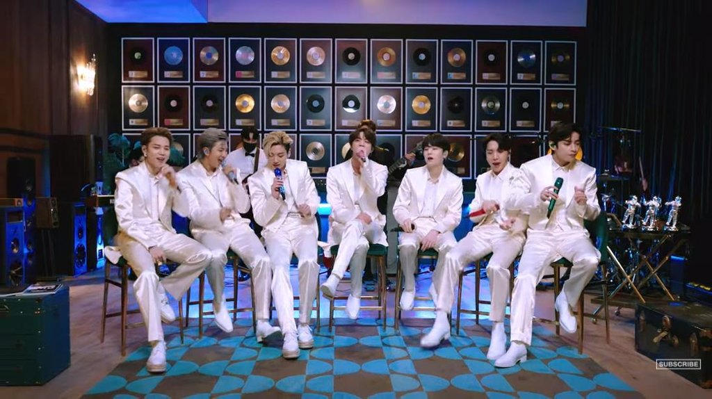 "This photo, provided by the American cable music channel MTV, shows a scene from a trailer of BTS on ""MTV Unplugged,"" which was aired worldwide at 9 p.m. on Feb. 23, 2021 (U.S. time). (PHOTO NOT FOR SALE) (Yonhap)"