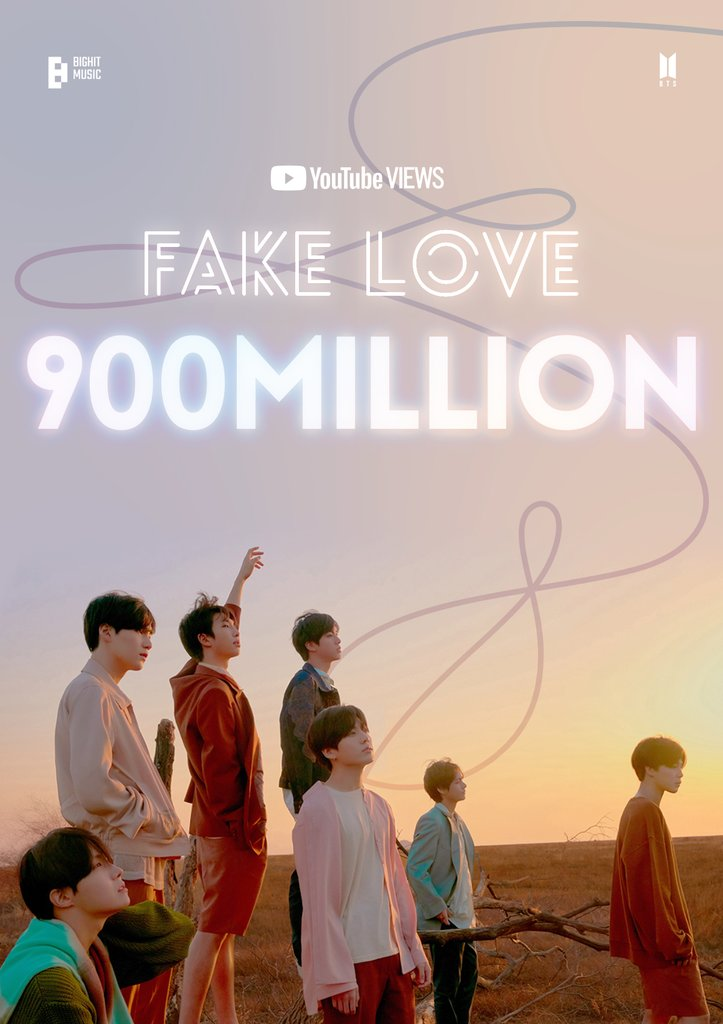 El videoclip de 'Fake Love' de BTS supera los 900 millones de visualizaciones en YouTube